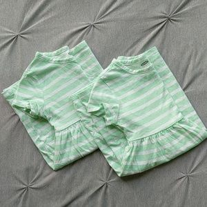 TWIN 3T stripped cotton dresses